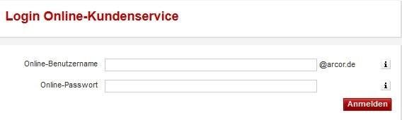 arcor login - login online-kundenservice